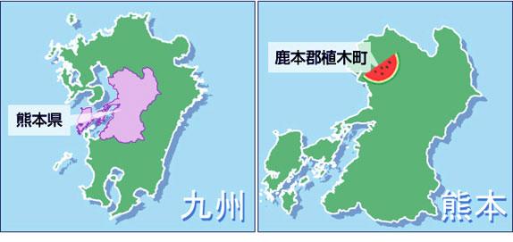 熊本県植木町の地図
